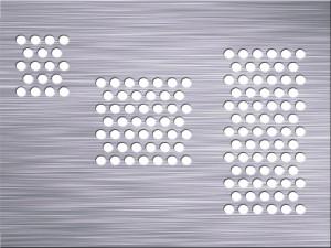 Tetszőleges számú és méretű perforált mező